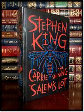 Stephen King Novels The Shining Carrie Salem's Lot Sealed Leather Bound Hardback