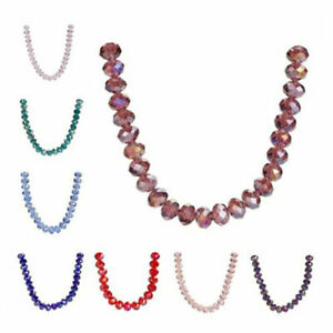 Rondelle Jewelry Glass 6mm 100pcs Beads Crystal Loose Makings Spacer Faceted