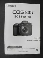 #2 Canon Eos 80D Camera Instruction Book / Manual / User Guide