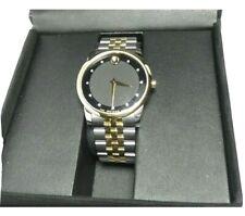 Movado Museum Classic Diamond Two-Tone Men's Watch Swiss Made $1295 MSRP W Box