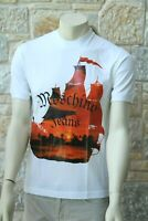 MOSCHINO Men's 100% Cotton White T-Shirt Size M Free P&P Made in Italy New w tag