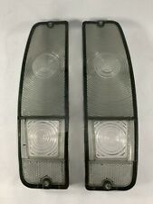 1967-72 FORD F100 F250 & 1967-1977 BRONCO TAIL LIGHT LENS Pair SMOKE CLEAR NEW