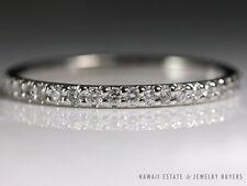 MICHAEL B. PLATINUM DIAMOND ETERNITY BAND RING 1 MM WEDDING BAND SZ 3.75