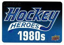2012-13 Upper Deck Hockey Heroes #NNO Header Card