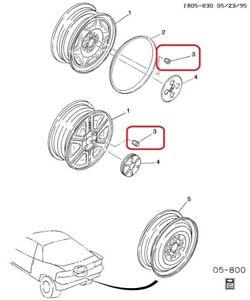 ( 1 ) LUG NUT - Front / Rear Wheel Genuine GM 94367305, Isuzu 8-94367305-0