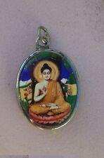 Tibetan Deity Pendant Enamel & Metal BUDDHA