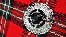 TC Broche Para Tela Escocesa Diseño Celta Piedra Negra / pins / Mujer Prendedor