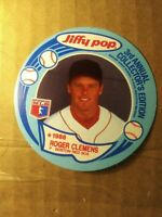 1988 MSA Jiffy Pop Discs Baseball Card #6 Roger Clemens Boston Red sox Vintage