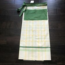 "Apron ""Comptoir de famille"" Bistrot Apron From France Green & Yellow Calico NWT"