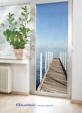 SONDERVERKAUF  Glastürfolie 85x200 SEE/ MEERBLICK für Balkontür Terrassentür
