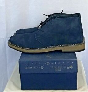 Joseph Abboud Men Thomas Chukka Lace Up Boots Loafers Navy Leather Suede Sz 11