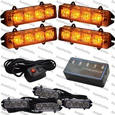 4 inch 16 LED Amber Waterproof Light Emergency Warning Strobe Flash Hazard