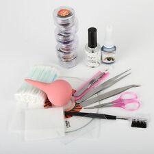 Natural False Eyelash Extension Kit Set Eye Lashes Eyelash Glue Makeup Tool