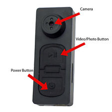 720P HD Police Grade Body Worn Hidden Spy Button Camera Set Portable DVR Audio