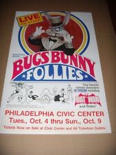 """Rodger Hess presents """"Bugs Bunny Follies""""1976 POSTER Live Show Ad w/BatmanPhilly"""