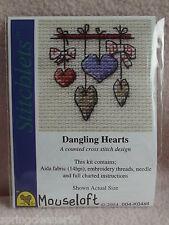 MOUSELOFT STITCHLETS CROSS STITCH KIT ~ DANGLING HEARTS ~ NEW