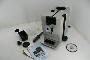 SEE NOTES JURA ENA 8 Coffee Machine Massive Aluminum Conical Burr Grinder Silver