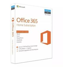 MICROSOFT OFFICE 365 HOME SUBSCRIPTION 1 YR 5 USER WINDOWS PC & MAC & TABLET NEW