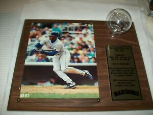 NICE KEN GRIFFEY JR. PLAQUE WITH PHOTO AND BASEBALL HOLDER