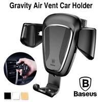 Baseus Universal Car Air Vent Mount Phone Gravity Holder For iPhone GPS Samsung