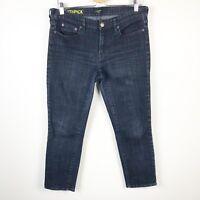 J.Crew Womens Toothpick Ankle Skinny Jeans Stretch Fit Dark Wash Sz 32