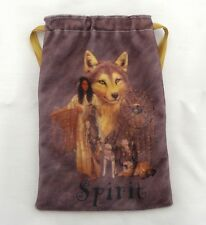 Faux Suede Native American Spirit Tarot Card Bag  for fairy, angel & tarot cards