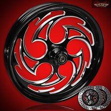 "Harley Davidson Road Glide 23"" inch Custom Front Wheel with Rotors ""Predator"""