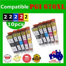 10x Ink Cartridge PGI 670XL CLI 671XL for Canon Pixma MG5760 5765 5766 6860 6865