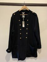 Sussan XXL black military style cardigan/coat, NWT RRP $149, 100% cotton, Warm