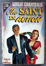 LESLIE CHARTERIS The Saint In Action SIMON TEMPLAR Avon 463 Vintage Paperback