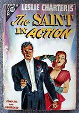 LESLIE CHARTERIS The Saint In Action SIMON TEMPLAR Avon 463 Vintage Paperback