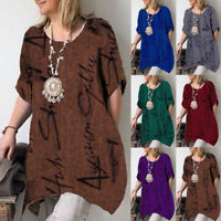 Women Summer Tunic Top Ladies Short Sleeve T-Shirt Casual Blouse Plus Size Ceng