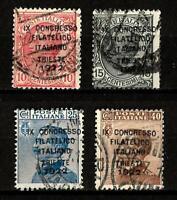 1922-Trieste-Congresso Filatelico -sass S 22 -  usato -11