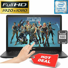 "DELL INSPIRON 15.6"" FULL-HD TOUCHSCREEN 512GB SSD 8GB INTEL i3 3.90GHz LAPTOP PC"