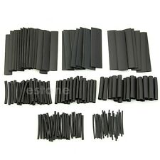 150 Pcs 2:1 Heat Shrink HeatShrink Tubing Tube Sleeving Wrap Wire Black NEW