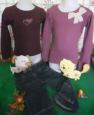 vêtements occasion fille 10 ans,pantacourt jean,pull LISA ROSE,sweat OKAIDI