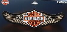 Harley Davidson Bar And Shield With Wings Classic Sew On Embroidered Patch