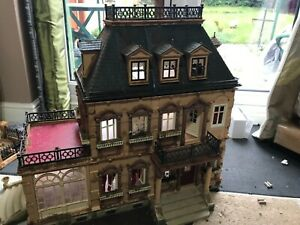 playmobil victorian mansion 5300 with conservatory, garden extension and extras