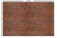 Self-adhesive Brick Paper Stickers for HO Scale Model Railroads 5 Peel & Stick