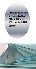OVALADO Transparencia Vidrio Claro Transparente 24 x 30cm Sin Moler 3mm