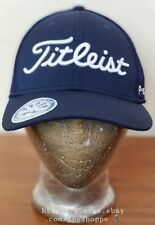 New Titleist Golf Fj Pro V1 New Era Fitted Stretch Hat Cap Navy Sports Mesh S/M