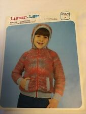 "Knitting Pattern. Child's Bomber Jacket with Hood..Sizes  24"" - 30""chests"