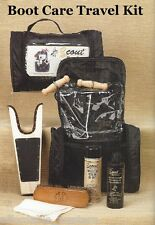 Travel Kit ~ BOOT KIT ~ Cleaner, Leather Protector, Brush, Jack, Pulls, Bag