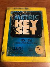Vintage Metric Key Set Allen Wrenches Allen Manufacturing Company Hartford Ct