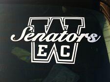 """East Chicago Washington Window Decals. White Vinyl """"ECW"""""""