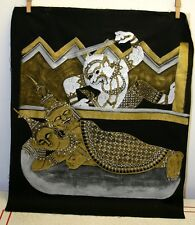 Vintage Hindu Tibetan Asian Art - Sex Art - Hand Painted Original Art on Cloth