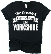 Personalised Any Place Greatest Grandson T-Shirt Gift for Grandson Present Idea