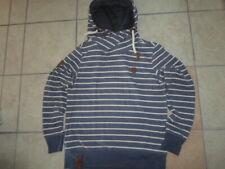 NAKETANO Herren Pullover Pulli Kapuzensweatshirt Sportswear Gestreift Größe S 46