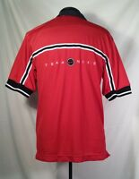 Vtg Nike Men's Short Sleeve Embroidered Red Black Jersey Shirt Small