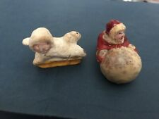Vintage, Possibly Bisque, Christmas Cake Decorations